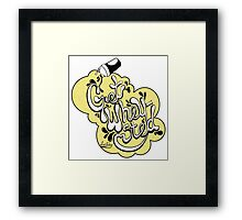 Get Wheysted (Yellow) Framed Print