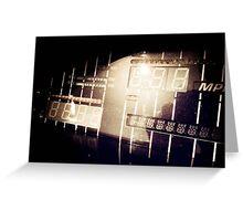 My Knight Rider Dashboard Retro Styled Photos 05 Greeting Card