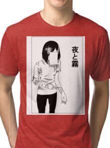 deep cut (WHITE) Tri-blend T-Shirt