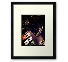 Retro Styled Photos Of My Knight Rider Dash 07 Framed Print