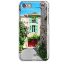 Street in historical center of Pezenas, Languedoc, France iPhone Case/Skin