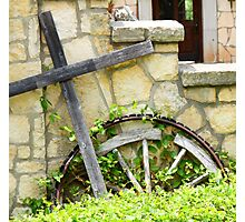 Cross And Stone Cropped Photographic Print