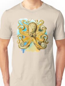 Cool Octopus - Sea Ocean or Navy Style Cartoon Drawing Unisex T-Shirt