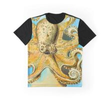 Cool Octopus - Sea Ocean or Navy Style Cartoon Drawing Graphic T-Shirt