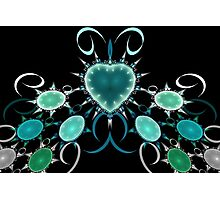 Heart and Jewels Photographic Print