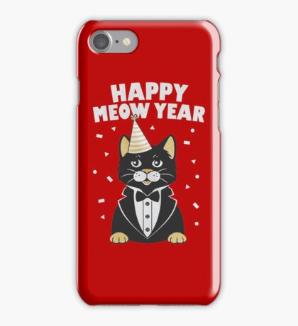 Happy Meow Year iPhone Case/Skin