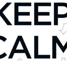 Keep Calm and Cosplay Sticker