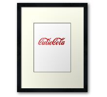 Cutie Cola Framed Print