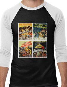 Sci-fi Movie Poster Art Collection #8 Men's Baseball ¾ T-Shirt