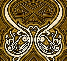ornament shaped curved lines and abstract by tashim