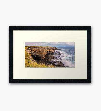 Sea Caves at Muckross - County Donegal, Ireland Framed Print