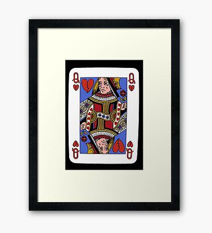 Queen of broken hearts Framed Print