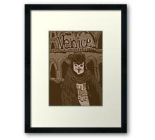 Venetian mask vintage Framed Print