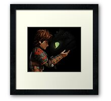 Hiccup & Toothless - Dragon Trainer Framed Print