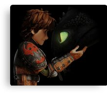 Hiccup & Toothless - Dragon Trainer Canvas Print