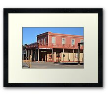 Crystal Palace - Tombstone Az.  Est. in 1800's Framed Print