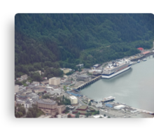 Juneau from Above Canvas Print