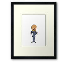 Scarecrow/No Background Framed Print