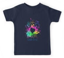 Multi Colors - With Love Heart Kids Tee