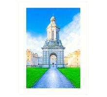 Trinity College Campanile On Parliament Square - Dublin Ireland Art Print