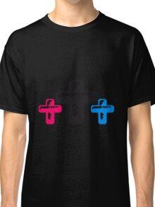 bunt 3 kreuze cool pixel gamer retro 8 bit muster christ logo design schriftzug jesus christus  Classic T-Shirt