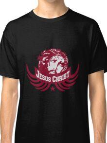 blut tropfen dornen krone flügel jesus christ team crew freunde spruch text tot kreuz cool design sünde gestorben  Classic T-Shirt