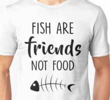 Fish Are Friends Not Food T-shirts, Funny Vegan Unisex T-Shirt