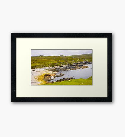Remote Village of An Port - County Donegal, Ireland Framed Print