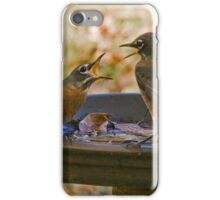 Squabble at the Water Hole iPhone Case/Skin