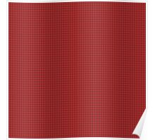 Expressive Chequered Pattern (Light & Dark Red) Poster