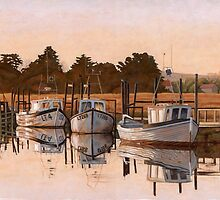 Early Morning, Fishing Boats at Thornham by JonEmery