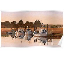 Early Morning, Fishing Boats at Thornham Poster
