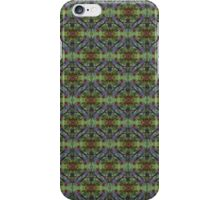 red Malus 'Radiant' crab apple blossoms #10, blue tint pattern iPhone Case/Skin