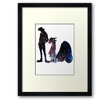Space Dandy and His Brave Space Crew - version 2 Framed Print