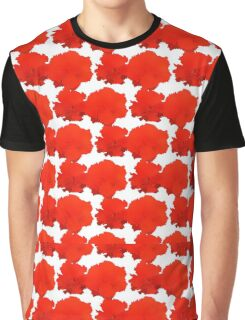 Natural Flowers Series - Red Flowers Graphic T-Shirt
