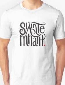 Slainte Mhath in black and red T-Shirt