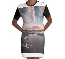 Hello Seattle Graphic T-Shirt Dress