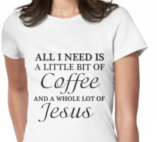 COFFEE JESUS Womens Fitted T-Shirt