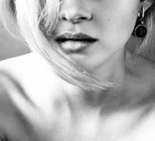 Nicola Peltz Black and White Sticker