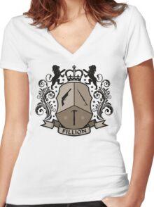 Fillion Character Crest Women's Fitted V-Neck T-Shirt