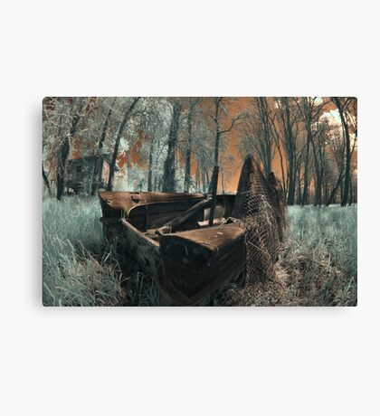 The Last Duck Hunt - Infrared Photo Canvas Print