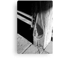 In the Barn 2 BW Canvas Print