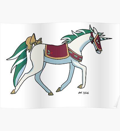Christmas Unicorn Poster