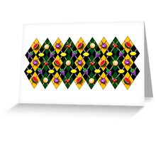 Fruity Argyle Pattern Greeting Card