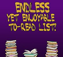 Endless to-read list by Nana Leonti