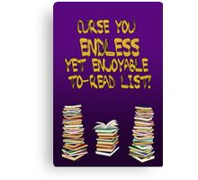 Endless to-read list Canvas Print