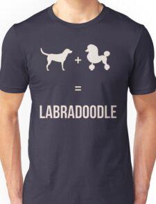 Labrador + Poodle = Labradoodle - Puppy Dog Silhouette  Unisex T-Shirt