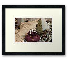 """A Chair Of Pillows"" Framed Print"
