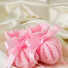 Baby Booties - Pink 2 by Ellesscee