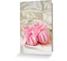 Baby Booties - Pink 2 Greeting Card